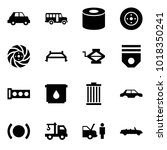 origami style icon set   car... | Shutterstock .eps vector #1018350241