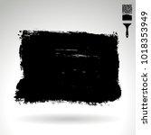 black brush stroke and texture. ... | Shutterstock .eps vector #1018353949