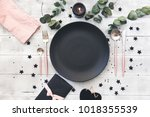 valentines day  or wedding meal ... | Shutterstock . vector #1018355539