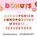 donuts hand drawn decorative... | Shutterstock .eps vector #1018366327