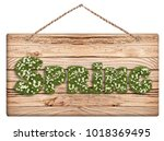 Small photo of Chalkboard with spring text