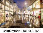 crowd of anonymous people...   Shutterstock . vector #1018370464