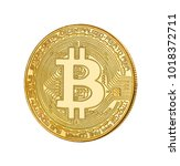 face of the crypto currency... | Shutterstock . vector #1018372711