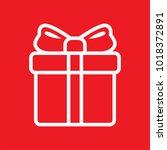 gift box. vector icon. | Shutterstock .eps vector #1018372891