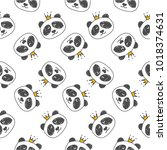 seamless pattern hand drawn... | Shutterstock .eps vector #1018374631