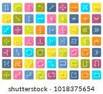 arrow icon set in flat style...   Shutterstock .eps vector #1018375654