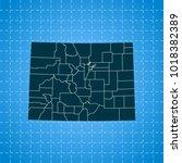 map of colorado   Shutterstock .eps vector #1018382389