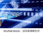 fiber optical connector... | Shutterstock . vector #1018388515