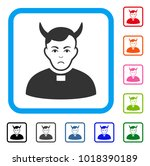 pitiful devil priest vector... | Shutterstock .eps vector #1018390189