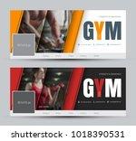 design of black and white... | Shutterstock .eps vector #1018390531