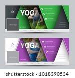 modern design vector banners... | Shutterstock .eps vector #1018390534