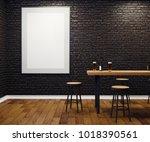 contemporary black brick pub or ...   Shutterstock . vector #1018390561