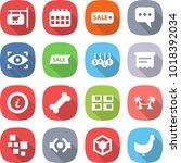 flat vector icon set   shop...   Shutterstock .eps vector #1018392034