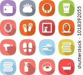 flat vector icon set   wallet... | Shutterstock .eps vector #1018392055