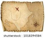 treasure pirates' old map... | Shutterstock . vector #1018394584