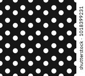 black and white seamless polka... | Shutterstock .eps vector #1018399231