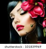Fashion Brunette Girl With...