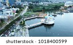 aerial photograpy. view drone... | Shutterstock . vector #1018400599