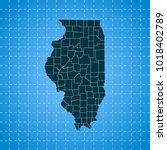 map of illinois   Shutterstock .eps vector #1018402789