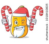 santa with candy butternut... | Shutterstock .eps vector #1018410835