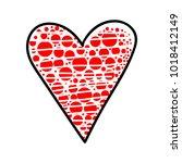 heart icon. vector illustration ... | Shutterstock .eps vector #1018412149