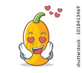 in love butternut squash mascot ... | Shutterstock .eps vector #1018413469