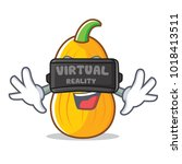 with virtual reality butternut... | Shutterstock .eps vector #1018413511