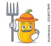 farmer butternut squash...   Shutterstock .eps vector #1018417849