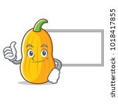 thumbs up with board butternut...   Shutterstock .eps vector #1018417855