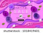 ultra violet spring sale... | Shutterstock .eps vector #1018419601