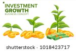 business growth concept vector. ... | Shutterstock .eps vector #1018423717