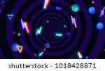 abstract geometric shapes... | Shutterstock . vector #1018428871