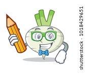 student turnip character... | Shutterstock .eps vector #1018429651
