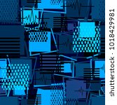 abstract seamless sport pattern ... | Shutterstock .eps vector #1018429981