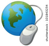 illustration  earth and mouse... | Shutterstock .eps vector #101843254