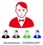 sadly dealer vector pictogram.... | Shutterstock .eps vector #1018441249