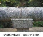 stone handrail architecture... | Shutterstock . vector #1018441285