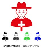 dolor catholic priest vector... | Shutterstock .eps vector #1018443949
