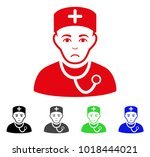 sad physician vector pictogram. ... | Shutterstock .eps vector #1018444021