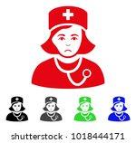 unhappy physician lady vector... | Shutterstock .eps vector #1018444171