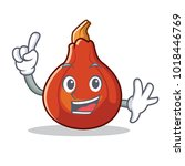 finger red kuri squash mascot...   Shutterstock .eps vector #1018446769