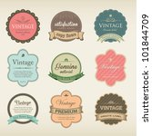 icons with labels in vintage...   Shutterstock .eps vector #101844709