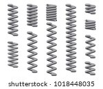 a collection of metal coil... | Shutterstock . vector #1018448035
