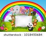 vector illustration of wild...   Shutterstock .eps vector #1018450684