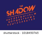 vector of modern abstract font... | Shutterstock .eps vector #1018450765