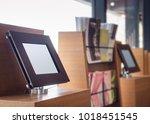 digital touch screen mock up... | Shutterstock . vector #1018451545