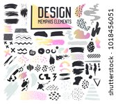 abstract memphis style design... | Shutterstock .eps vector #1018456051