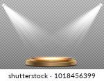 round podium  pedestal or... | Shutterstock .eps vector #1018456399