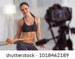 being slim. beautiful vigorous... | Shutterstock . vector #1018462189