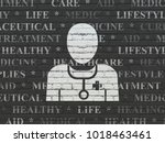 healthcare concept  painted... | Shutterstock . vector #1018463461